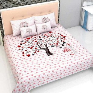 Cotton bed sheets queen size bedsheet: 90*100 inch , pillow cover: 18 inch x 28 inch.