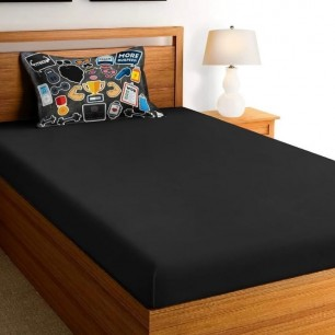 Glace Cotton Single Bedsheet set for teenage and Kids.