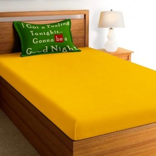 Superior Glace Cotton Single Bedsheet set for teenage and Kids.