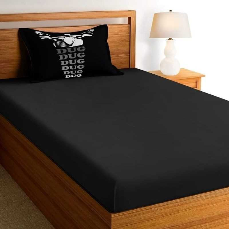 Teenagers And Kids Glace Cotton Single Bedsheet set.