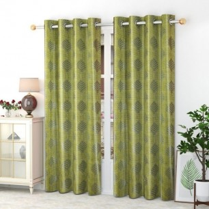 Window And Door Curtains (Pack of 2) With Polyster Material.