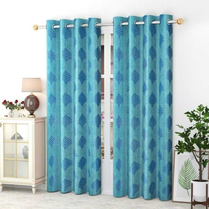 Polyster Window And Door Curtains (Pack of 2).