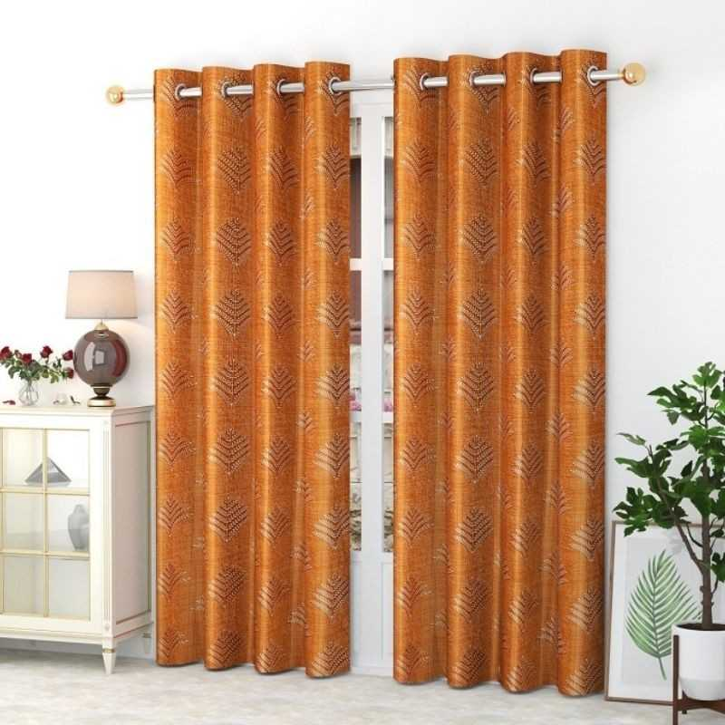 Window And Door Polyster Curtains (Pack of 2) 200 GSM.