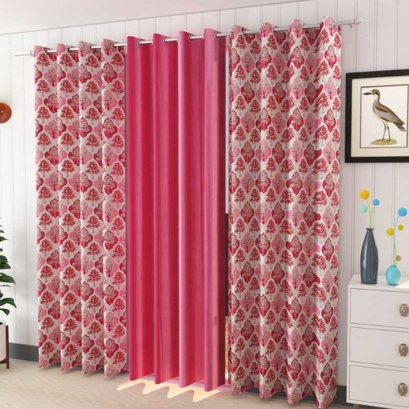 Window And Door Polyster Curtains (Pack of 3) 200 GSM.