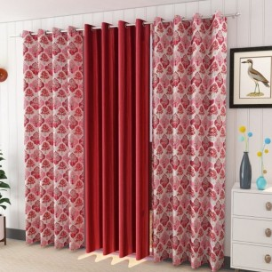 Window And Door 200 GSM Polyster Curtains (Pack of 3).