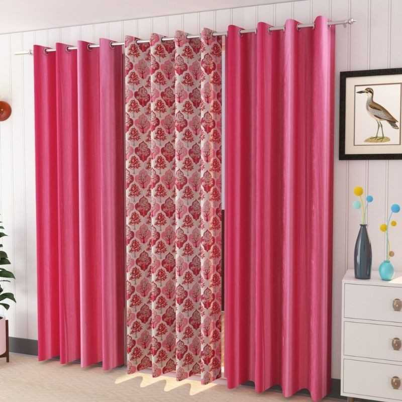 Polyster Window And Door Curtains (Pack of 3).