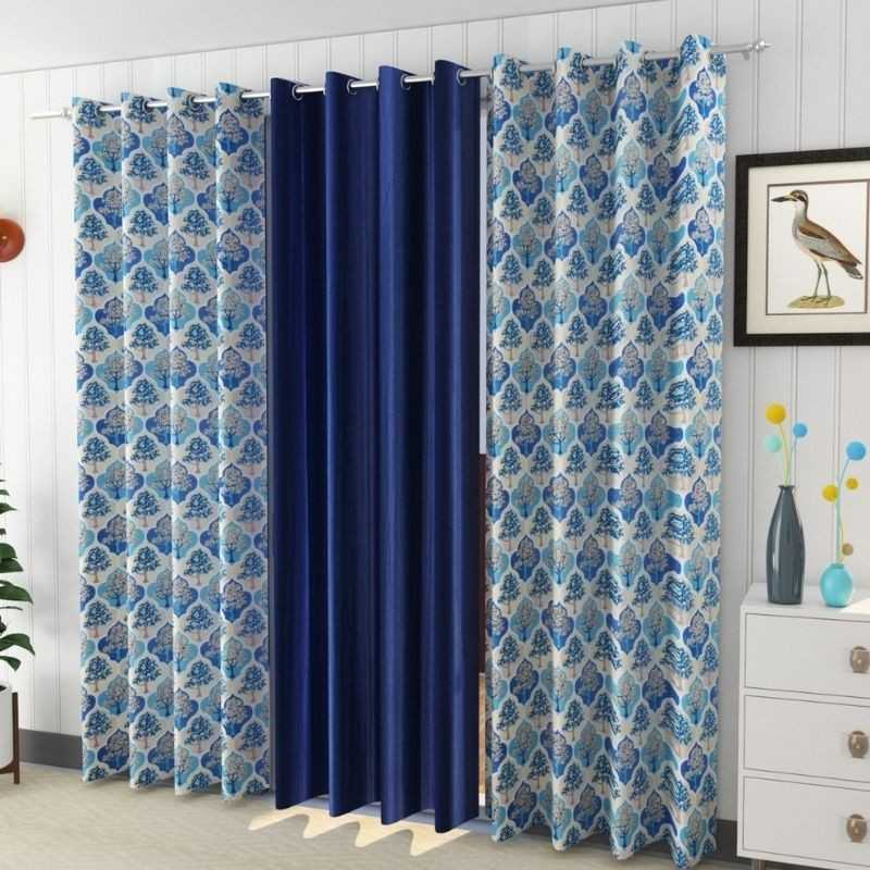 Window And Door Curtains (Pack of 3).