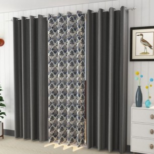 Pack of 3 Window And Door Curtains.