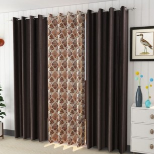 Attractive Window And Door Curtains Pack of 3.