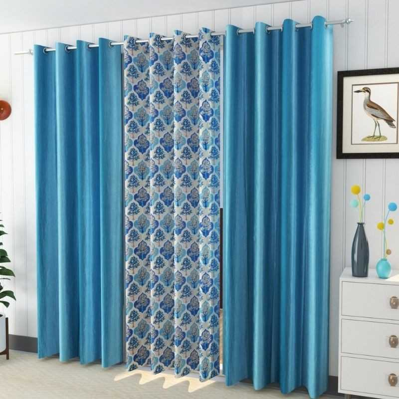Attractive Window And Door Curtains Pack of 3 Curtains.