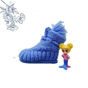 Soft, Warm And Comfortable Baby Booties With Handmade.