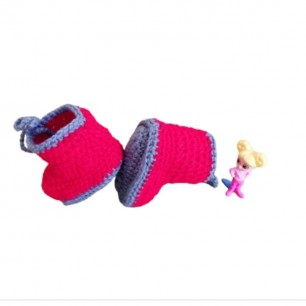 Handmade Yarn Kids Shoes For 0 To 12 Months.