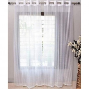 White Tissue Net Eyelets Curtain for Windows and Door.