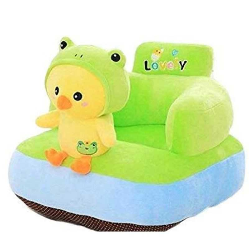 Chick Green Shaped Soft Plush Cushion Supporting Seat for Babies.