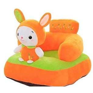 Rabbit Shaped Soft Plush Cushion Supporting Seat for Babies.
