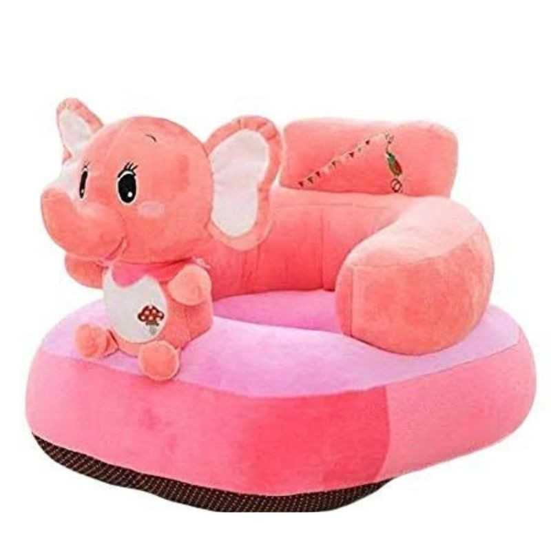 Elephant Shaped Soft Plush Cushion Supporting Seat for Babies.