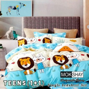 Single bedsheet Set For Teens Heavy Glace Cotton.