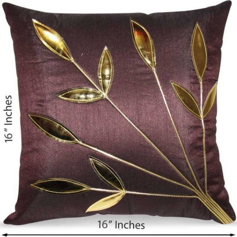 Stuff N' Fluff Microfibre Floral Back Cushion Pack of 10  (Brown)