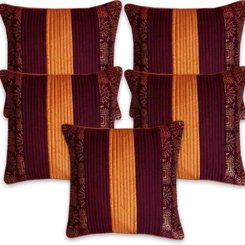 Diwan Set Cushions Covers and Bolsters Covers Combo Set.