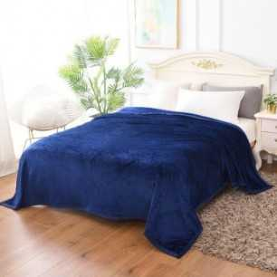 Emboss AC blanket with Solid shades