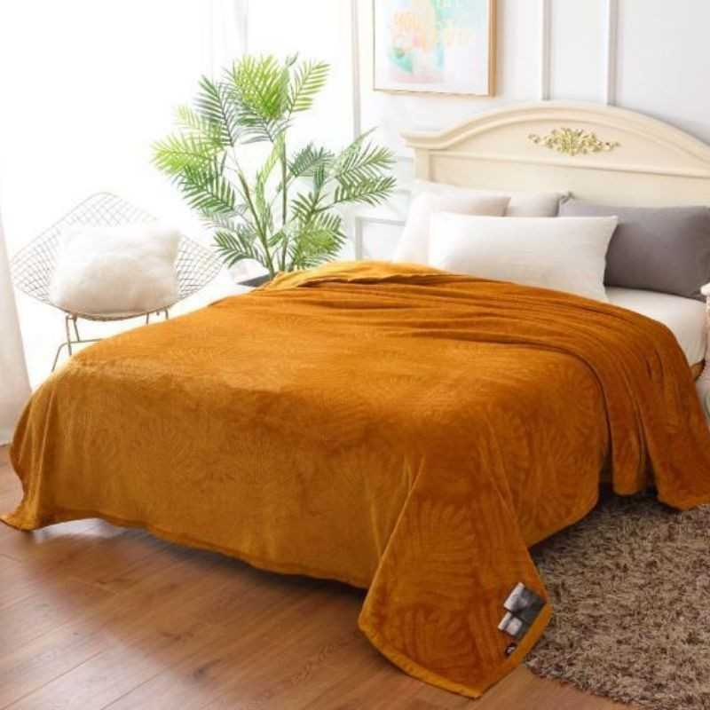 Super soft yellow blanket with Solid shades by gloria