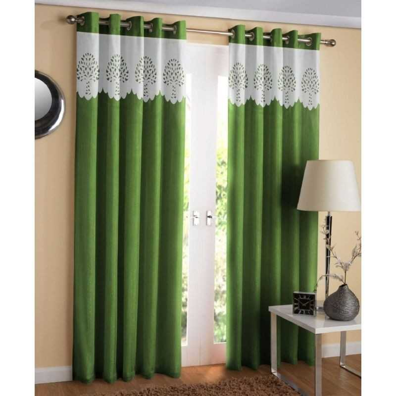Polyester window or door curtain for home.